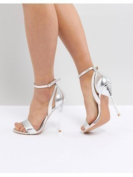Lost Ink Silver Hero Heeled Sandals - Silver