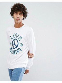 Love Moschino Logo Sweatshirt - White