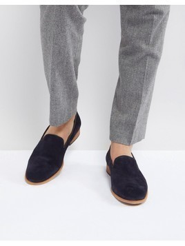 Zign Suede Smart Loafer In Navy - Navy