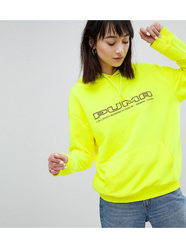 Puma Exclusive To ASOS Sweatshirt In Neon Yellow With Logo - Yellow