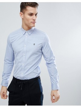 French Connection Long Sleeve Oxford Shirt - Blue