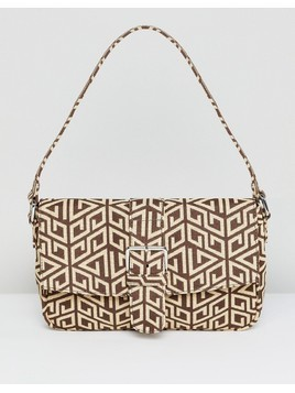 ASOS DESIGN 90s shoulder bag in monogram - Multi