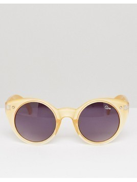 Quay Australia Aimshi Cat Eye Sunglasses - Gold