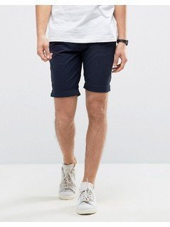Casual Friday Chino Shorts In Navy - Navy