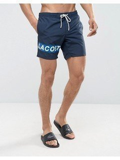 Lacoste Leg Logo Swim Shorts in Navy - Navy