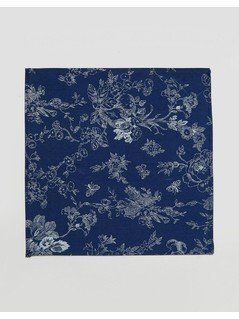 Noose&Monkey Pocket Square In Oriental Print - Blue