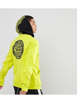 Vans Oversized Hoodie With Back Print In Green Exclusive To ASOS - Yellow