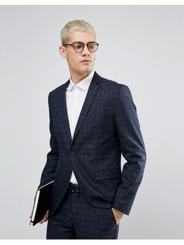 Selected Homme Skinny Wedding Suit Jacket - Navy