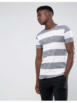 Minimum Cabra Striped T-Shirt - White