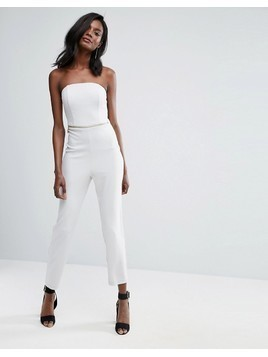ASOS Bandeau Jumpsuit with Hardware Detail - Grey