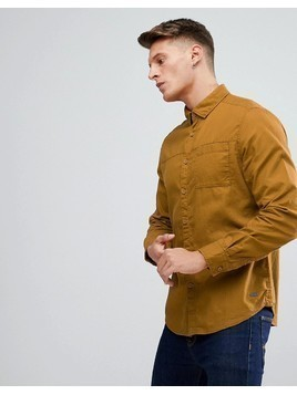 Esprit Shirt With Pocket In Mustard - Yellow