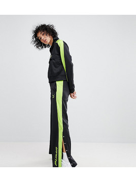 Puma Exclusive To ASOS Track Pant In Black And Lime Green - Black