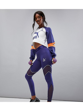 Puma Exclusive To Asos Mesh Panel Active Leggings - Navy