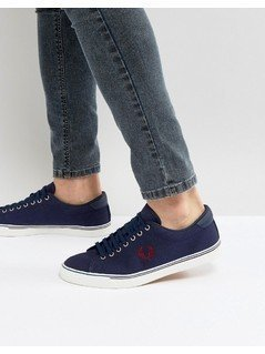 Fred Perry Underspin Canvas Trainers in Blue - Blue