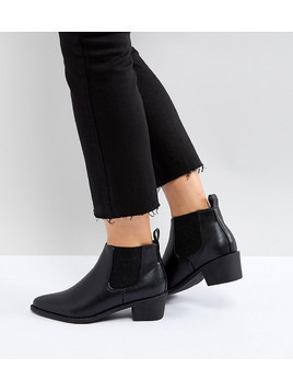 Truffle Collection Wide Fit Chelsea Boot - Black
