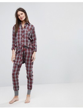 Esprit Checked Pyjama Bottoms - Multi