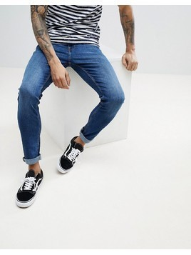 Produkt Skinny Fit Jeans In Mid Blue Denim - Blue
