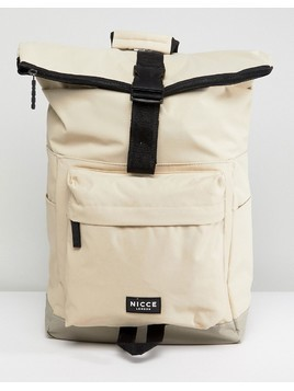 Nicce London Rolltop Backpack In Stone - Stone