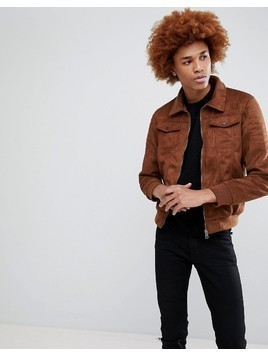 Criminal Damage Niro Suedette Jacket - Tan