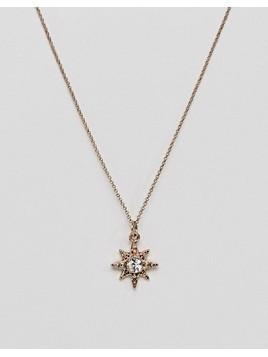 Liars & Lovers Starburst Gold Pendant Necklace - Gold