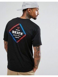 Brixton Peabody T-Shirt With Back Print - Black