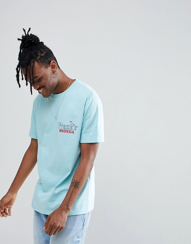 ASOS Relaxed T-Shirt With Frank's Bodega Back Print - Green