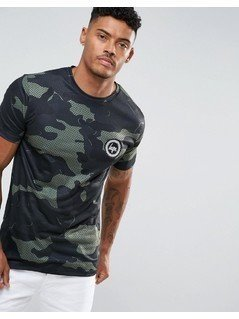Hype T-Shirt In Khaki Camo - Green