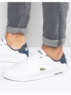 Lacoste Graduate Leather Trainers - White