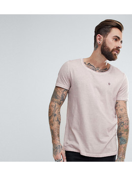 Noose&Monkey Relaxed Skater Scoop Neck Dirty Wash T-Shirt - Pink