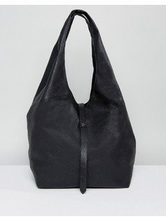 ASOS Soft Slouch Shopper Bag With Tie - Black