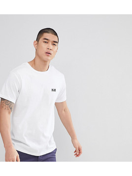 Obey T-Shirt With Jumble Logo Back Print In White - White