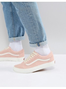 Vans Old Skool Trainers In Pink VA38G1QSK - Pink