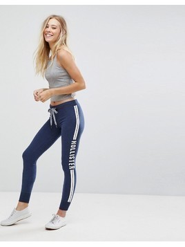 Hollister Logo Skinny Trackpant - Navy