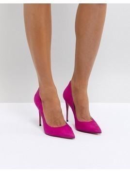 ALDO Suede Pink Pointed Shoe - Pink