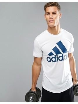 adidas Logo T-Shirt In White BR4054 - White