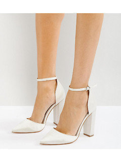 ASOS PENALTY Bridal Pointed High Heels - Cream