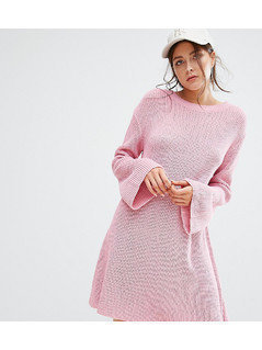 Boohoo Knitted Swing Dress - Pink