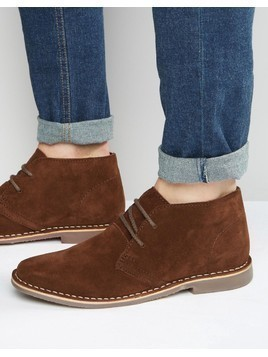 Red Tape Desert Boots Brown Suede - Brown