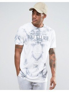 River Island T-Shirt With Future Tie Dye In White - White