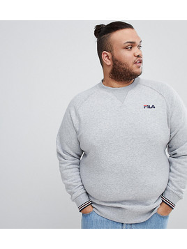 Fila Vintage PLUS Sweatshirt With Small Script In Grey - Grey