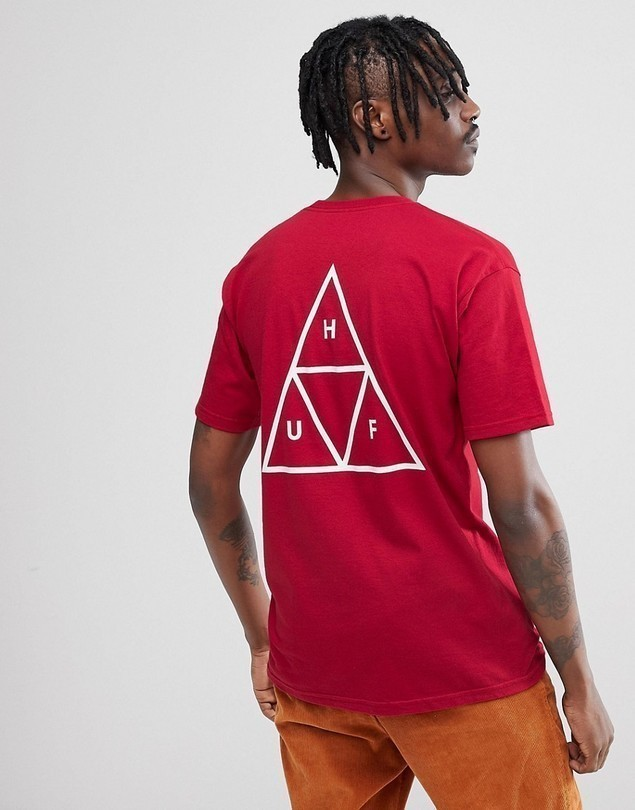 Huf Triple Triangle T-Shirt In Red - Red