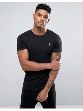 Religion Crew Neck T-Shirt In Muscle Fit - Black