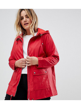 New Look plus matte anorak jacket - Red
