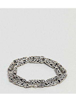 Seven London Detailed Chain Bracelet In Sterling Silver - Silver