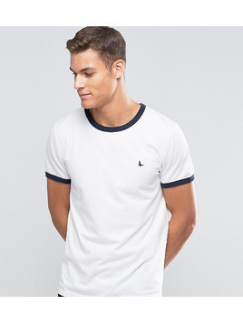 Jack Wills Ringer T-Shirt In Regular Fit In White Exclusive - White