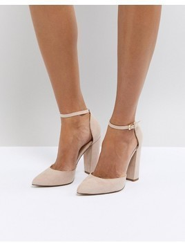 ALDO Nicholes Beige Ankle Strap High Heeled Pointed Shoe - Beige