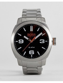 BOSS Orange By Hugo Boss Cape Town Watch With Black Dial - Silver
