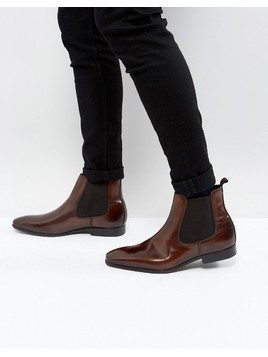 Zign Smart Leather Chelsea Boots - Brown