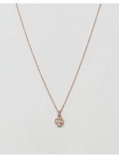 Ted Baker Pave Crystal Small Rosette Pendant Necklace - Gold