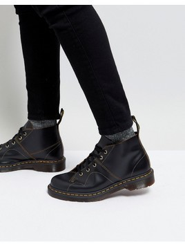 Dr Martens Church Monkey Lace up Boots In Black - Black